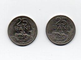 ROMANIA - 2 Monete Da 25 Bani - 1960 E 1966 - Vedi Foto - (MW1563) - Roumanie