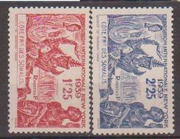 COTE DES SOMALIS              N°  YVERT   170/171     NEUF SANS CHARNIERE       ( NSC   10 ) - Côte Française Des Somalis (1894-1967)