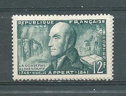 FRANCE -  Yvert  N° 1014 **  NICOLAS APPERT - Neufs
