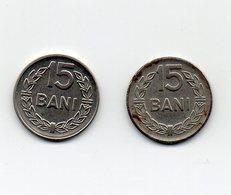 ROMANIA - 2 Monete Da 15 Bani - 1960 E 1966 - Vedi Foto - (MW1564) - Roumanie