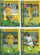 CARTE DE JOUEUR DU FC. NANTES.  ATEBA-PAILLERES-BOUCHER-ZIANI   SAISON 2003-2004 - Football