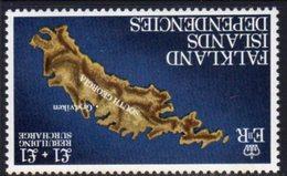 Falkland Island Dependencies 1982 Rebuilding Fund £1 + £1 Wmk. Inverted, MNH, SG 112a - Falkland