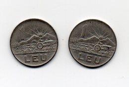 ROMANIA - 2 Monete Da 1 Leu - 1963 E 1966 - Vedi Foto - (MW1565) - Romania
