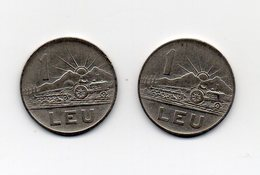 ROMANIA - 2 Monete Da 1 Leu - 1963 E 1966 - Vedi Foto - (MW1565) - Roumanie