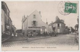 CPA 91 MENNECY Rue Du Four à Chaux - Route De Paris - Mennecy