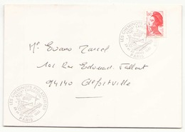 """France Enveloppe Avec Tampon """" Les Cheminots Philatélistes Exposition à Paris En 1982 """" Pour Alfortville - France"""