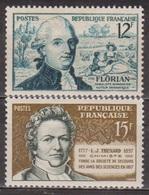 Littérature, Florian, Fabuliste - FRANCE - Sciences, Chimie, Thénard - N° 1021-1139 ** - 1955 - France