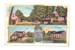 0-7701 SPREETAL - ZERRE, Lithographie. Herrmann Buchwald's Restaurant, Mühle, Dorfstrasse - Bautzen