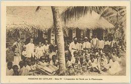 CPA MISSIONS DE CEYLAN - Série IV - L'inspection De L'école Par Le Missionnaire - Très Animée - 06/11/1931 - Sri Lanka (Ceylon)