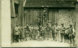 GERMANY - WORKERS  - RPPC POSTCARD MAILED FROM Mainz-Hechtsheim -  BAHNPOST ZUG 25 11 12 (BG611) - Mainz