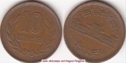 GIAPPONE 10 Yen 1955 (昭和 - Showa - Reeded) KM#y73 - Used - Giappone