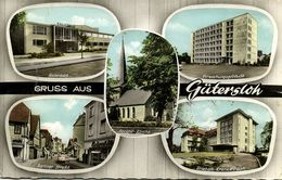 GÜTERSLOH, Hallenbad, Berliner Strasse, Verwaltungsgebäude, Krankenhaus 1965 AK - Guetersloh