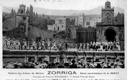Théâtre  Des  Arènes  De  Béziers  - Zorriga  Décor Panoramique De Bailly - Musique De Francis Bousquet. - Beziers