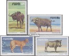 Namibia - Südwestafrika 553,570,587,604x (kompl.Ausg.) Gestempelt 1984/87 Wildlebende Säugetiere - Africa Del Sud-Ovest (1923-1990)