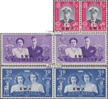 Namibia - Südwestafrika 252-257 Waagerechte Paare (kompl.Ausg.) Gestempelt 1947 Besuch Der Königl. Familie - South West Africa (1923-1990)