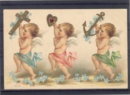 Relief - Gaufrée - Embossed - Prage - Anges - TBE - Angels