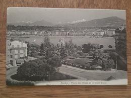 Genève - Place Des Alpes Et Le Mont Blanc - Charnaux éditeur N°1414 - GE Genève