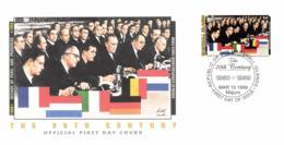 Marshall Islands 1999 Mi. 1166 FDC, Developments 1950-59 European Coal And Steel Community (1951), Treaty Of Rome (1957) - Idées Européennes