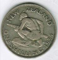 NOUVELLE-ZELANDE - ONE SHILLING 1934 Argent George V - New Zealand