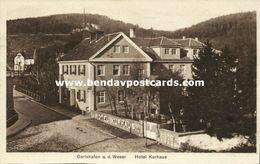 CARLSHAFEN A.d. Weser, Hotel Kurhaus (1920s) AK - Bad Karlshafen