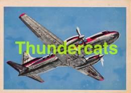 CHROMO TRADING CARD AVIATION AVION AIRPLANE PLANE PREMIERE TRADING CARDS OKAK 1957 CONVAIR TURBOLINER - Avions