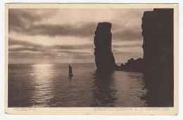 Helgoland Old Postcard Travelled 1914 B181015 - Helgoland