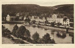 CARLSHAFEN A.d. Weser, Hafenplatz Mit Hennerstieg (1920s) AK - Bad Karlshafen