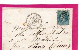 Loire Inférieure -  Cad 24 BATZ ( 42 ) GC 3781  ST NAZAIRE S LOIRE   Sur N° 29 - Postmark Collection (Covers)