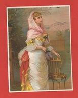 Jolie Chromo Grand Format Lith. Testu & Massin, Cat. Sorisi TM14-43, Jeune Femme Romantique - Chromos