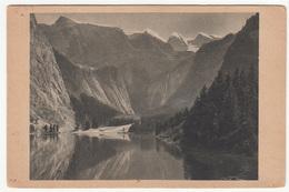 Der Obersee (Berchtesgaden) Old Postcard Travelled 1931 B181015 - Berchtesgaden