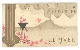 Carte Parfumée Pompeta Parfum De L.T. Piver, Paris, Calendrier 1937 - Cartes Parfumées