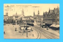 PK/CP OSTENDE/OOSTENDE 1924 : Panorama De La Ville à La Sortie De La Gare. STOOMTRAM. - Oostende