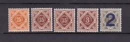 Wuerttemberg - Dienst - 1906/21 - Michel Nr. 117, 132, 133, 158 - Wuerttemberg