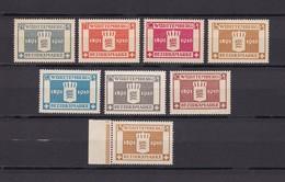 Wuerttemberg - Dienst - 1916 - Michel Nr. 123/129 - 55 Euro - Wuerttemberg