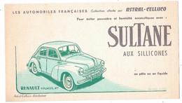 BUVARD Les Automobiles Françaises Collection Offerte Par ASTRAL CELLUCO, RENAULT 4 CV - Automobile