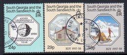 South Georgia 1987 International Geophysical Year Set Of 3, Used, SG 176/8 - Falkland Islands