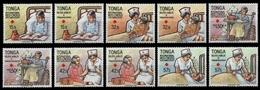 Tonga 1988 - Mi-Nr. 1051-1060 ** - MNH - Rotes Kreuz / Red Cross - Tonga (1970-...)