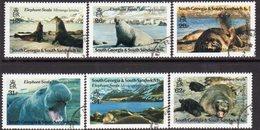 South Georgia 1991 Elephant Seals Set Of 6, Used, SG 203/8 - Falkland Islands