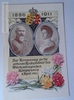 """D161349 Deutsches Reich / 1911 / URACH  - HOff.Postkarte  """"silberne Hochzeitsfeier D.Wuertt.Koenigspaares"""" - Unclassified"""