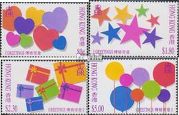 Hongkong 679-682 (kompl.Ausg.) Postfrisch 1992 Grußmarken - Hong Kong (...-1997)