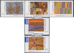 Australien 3188-3190 Dreierstreifen,3191-3192 Postfrisch 2009 Kunst Der Ureinwohner - 2000-09 Elizabeth II