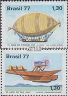 Brésil 1622-1623 (complète.Edition.) Oblitéré 1977 L\u0026#39;aviation Civile - Brasile