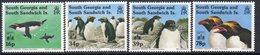 South Georgia 1994 Macaroni Penguins Hong Kong Exhibition Overprints Set Of 4, MNH, SG 243/6 - Falkland Islands