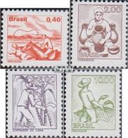 Brésil 1598-1601 (complète.Edition.) Oblitéré 1977 Locals Professions - Usati
