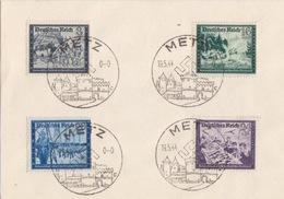 Petite Lettre Oblitéré De Metz (T 340 Metz C) Sur TP Reich 8, 16, 20, 24pf Le 19/5/44 - Marcophilie (Lettres)
