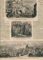 1861 : Eboulement Au Château-Gaillard, Chapelle, Petit-Andely, Inondation à Pont-l'Evêque, Page Originale - Non Classés