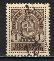 ITALIA LUOGOTENENZA - 1946 - 1 LRA - USATO - 5. 1944-46 Lieutenance & Umberto II