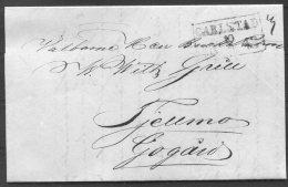 1848 Sweden Carlstad Prestamp Entire - ... - 1855 Prephilately