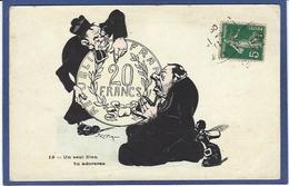CPA Anticléricalisme Anticlérical Satirique Caricature Curé Circulé Monnaie Numismatique - Christendom
