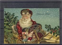 Relief - Gaufrée - Embossed - Prage - Père Noël - TBE - Santa Claus